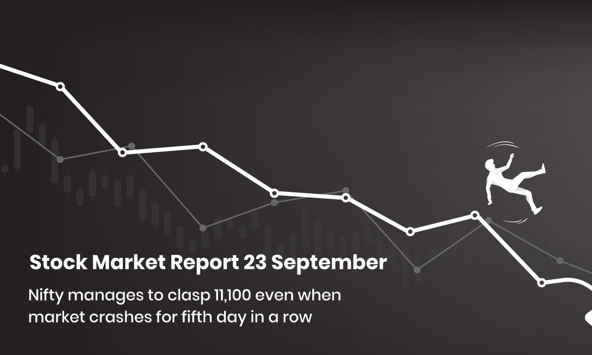 Nifty Manages to Clasp 11,100 Even When Market Crashes for Fifth Day in a Row